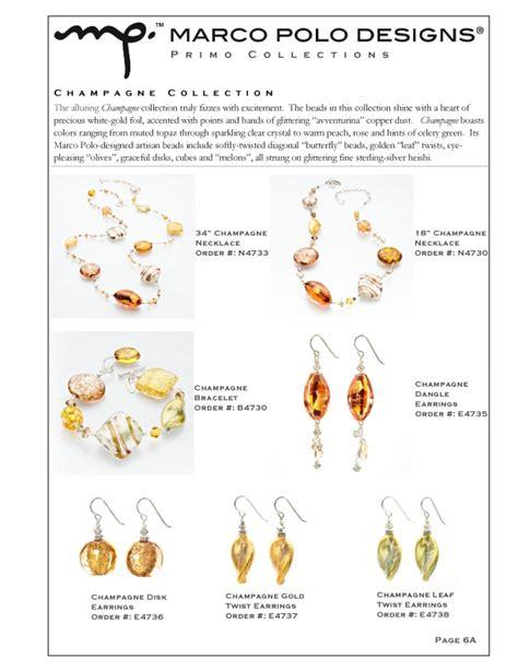 Jewelry Line Sheet Template by Jewelry Line Sheet