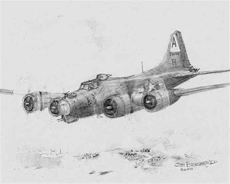 B 17 Sketches by B 17 Flying Fortress By Jim Hubbard