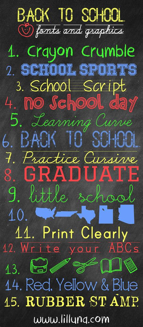 back to school lettering or free back to school fonts and graphics