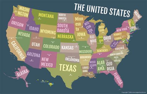 map usa poster buy usa bold state names poster map