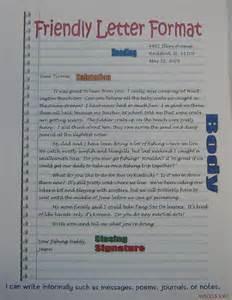 grade friendly letter template friendly letter format anchor 5th grade sra imagine it