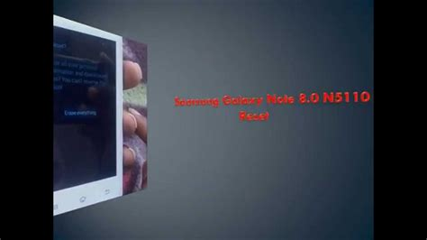 reset samsung without password how to hard reset samsung galaxy note 8 0 n5110 and forgot