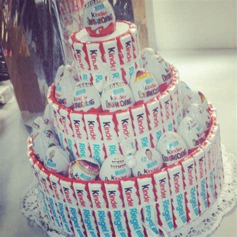 kinderschokolade kuchen 220 ei und kinderriegel torte basteln