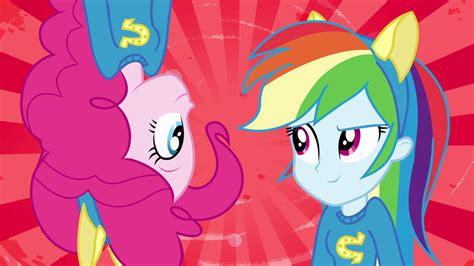 Bgc My Pinkie Pony Rainbow Dash And Friends Kantung Depan Tas R image pinkie pie and rainbow dash splash screen eg png my pony friendship is magic
