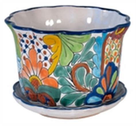 Mexican Planter by Talavera Pottery Decorative Mexican Talavera Ceramics