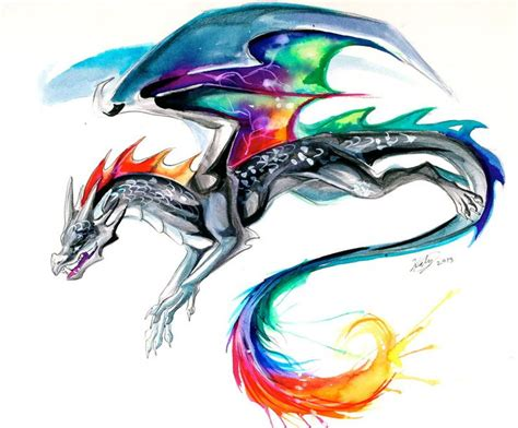 watercolor dragon tattoo tie dye dragon tattoo by lucky978 on deviantart love the