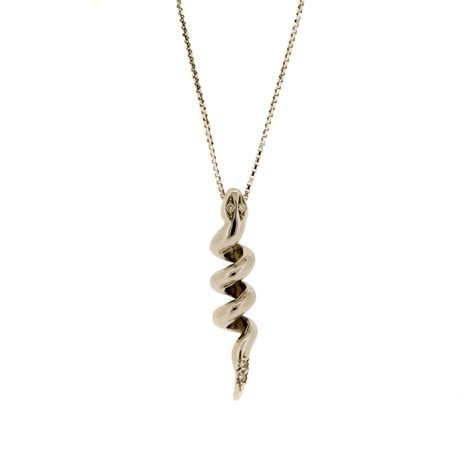 snake coil pendant with diamonds