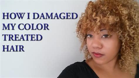 best shoo for color treated hair how i damaged my color treated hair youtube