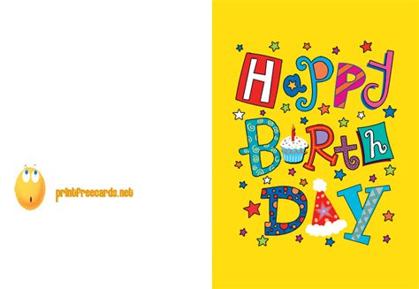 Free Printable Birthday Cards Printable Birthday Card Free Birthday Cards Free