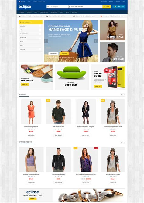 eclipse themes magento 15 excellent magento shopping themes for e business
