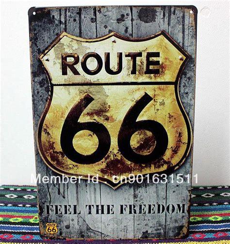 route 66 home decor 20 30cm usa route 66 home decor tin sign antique plaque