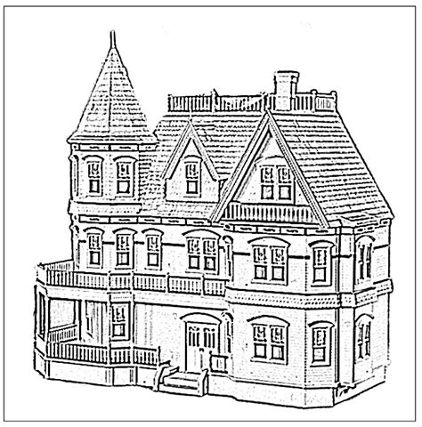 Mansion Coloring Pages sketch template