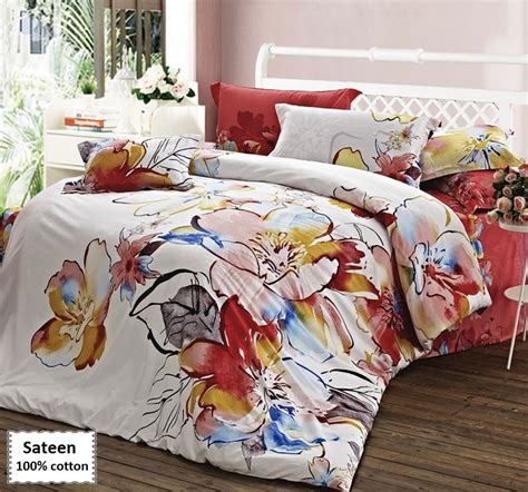 Sateen Bedding Sets Sateen Duvet Cover Set King Size 4 Pcs Beddingeu