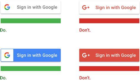 design google sign sign in with google neues button design und keine