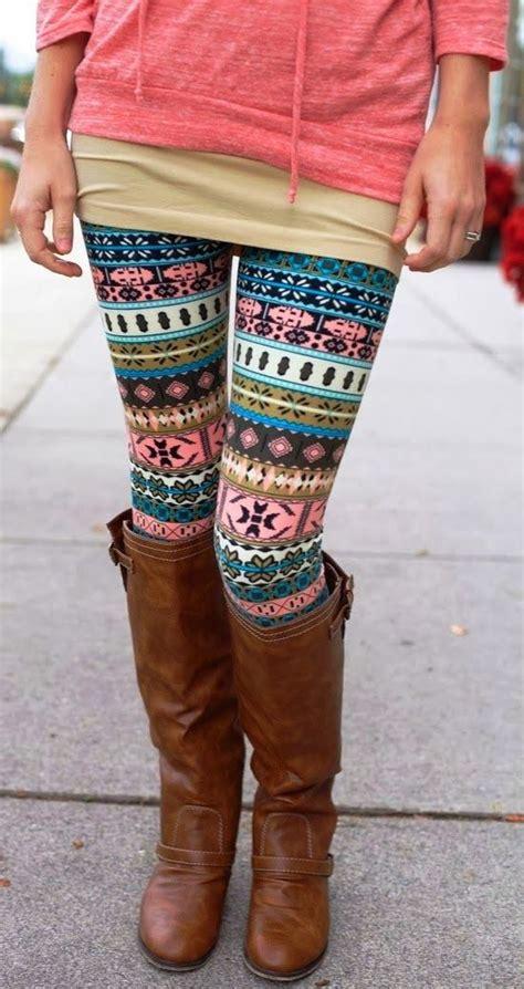cute tribal pattern leggings cute tribal leggings and long boots i m fashion