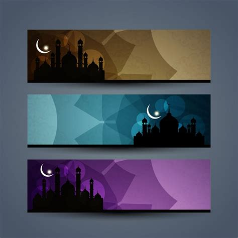 Design Banner Islamic | islamic banners set vector free download