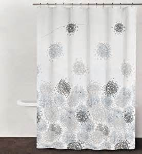 Dkny Shower Curtain Dkny Brushstroke Floral Periwinkle Gray Brown Fabric