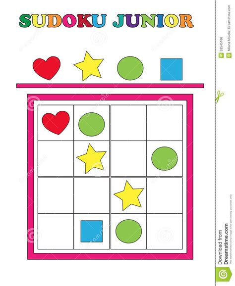 printable junior sudoku sudoku junior stock illustration illustration of