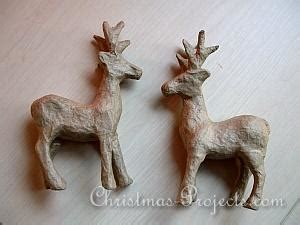 Paper Mache Reindeer Craft - free craft project decoupatch paper mach 233 reindeer