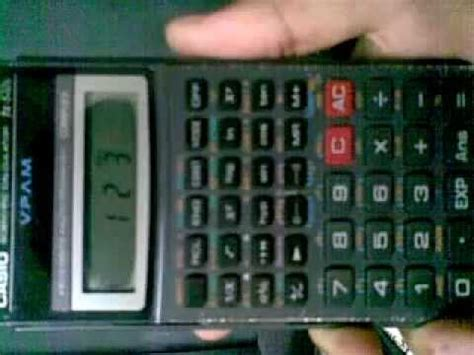 casio scientific calculator fx  hidden mode youtube