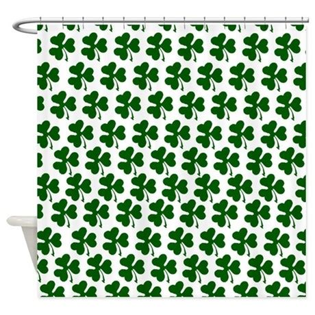 shamrock shower curtain irish shamrock pattern shower curtain by culturegraphics