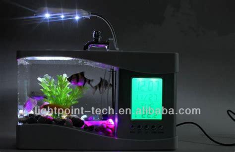 bureau aquarium mini cadeau 233 cran lcd aquarium fish tank de bureau usb