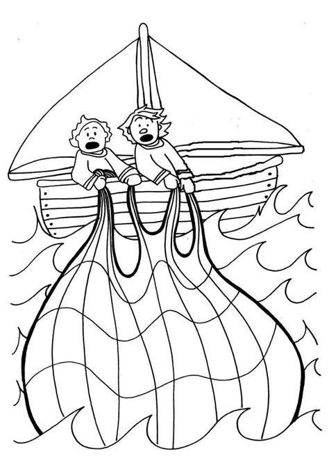 the miraculous catch of fish coloring pages glue fish