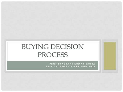 Decision Process Paper - buying decision process essay original content