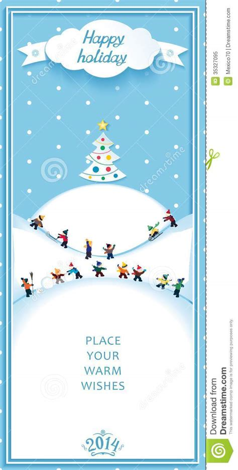 happy holidays nature landscape vertical banner stock vector illustration  kids ribbon