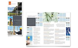 civil engineers tri fold brochure template design