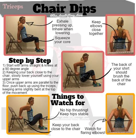 bench dips muscles worked how to do chair dips the deadlifting diva