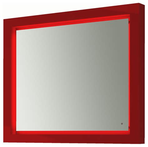red bathroom mirror due led bathroom mirror 39 quot 1 4 one touch switch red