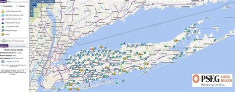 pse g outage map pseg li thunderstorm update thousands still without power