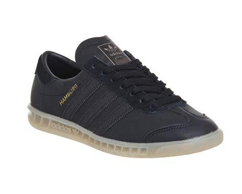 Adidas Gazalle Mono Suede by Adidas Hamburg Black Mono Gum His Trainers