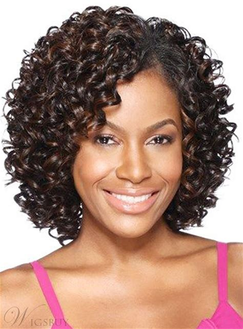 african american human wigs for women african american kinky curly shoulder length synthetic