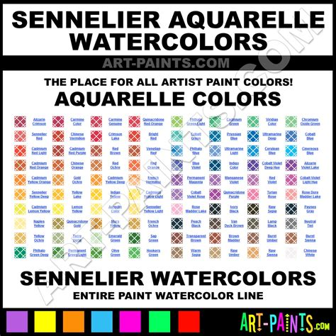 sennelier aquarelle watercolor paint colors sennelier aquarelle paint colors aquarelle color