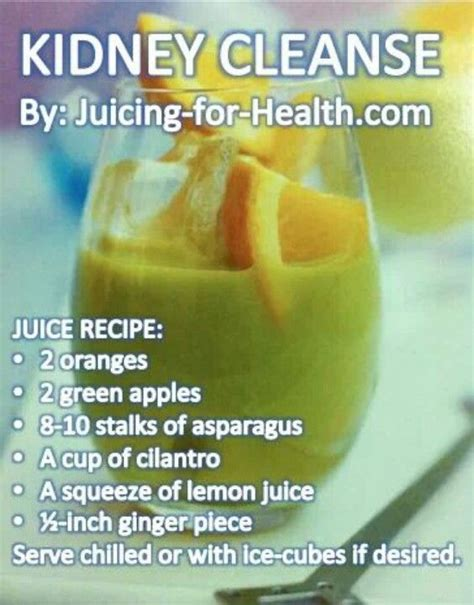 Kidney Detox by Juicing Kidney Cleanse Recipes