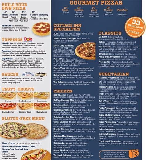 cottage pizza cottage inn pizza menumenu world menu world
