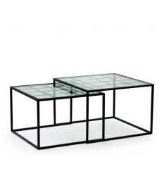 table basse de salon ronde noir et bois hore wadiga