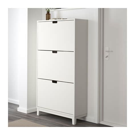 shoe armoire st 196 ll shoe cabinet with 3 compartments white 79x148 cm ikea