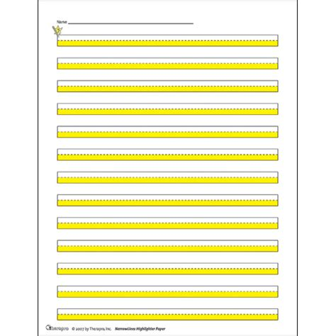 printable highlighted writing paper highlighter paper narrowlines writing