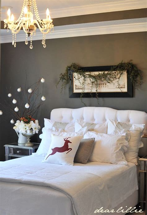 bedroom decor cozy christmas bedroom decorating ideas festival around