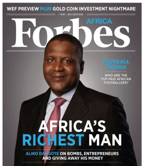 richest in south africa 2012 aliko dangote wants to buy arsenal meet the second most powerful black in the world after