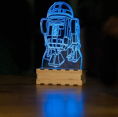 Stylish Desk Lamps by Awesome Star Wars Acrylic Night Lights Sci Fi Design