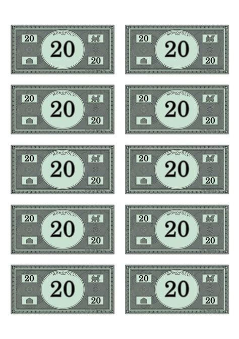 monopoly money 20 budget pinterest money and monopoly