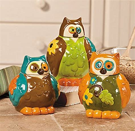 owl canisters for the kitchen 2018 vibrant owl canister jars to take your kitchen decor to the next level