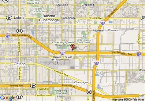 california map rancho cucamonga map of hotel indigo ontario rancho cucamonga ontario