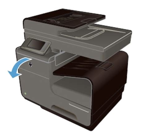 Printer Hp Officejet Pro X576 how to replace an empty ink cartridge in the hp officejet