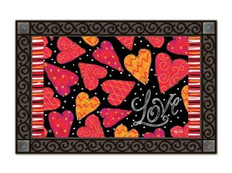 Matmates Doormats indoor outdoor matmates doormat hearts