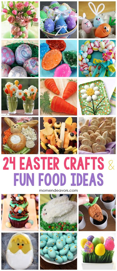 food crafts ideas easter crafts food ideas